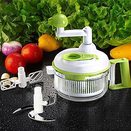 Uten Multifuncional Picadora de Frutas y Verduras con un Recipiente Grande para