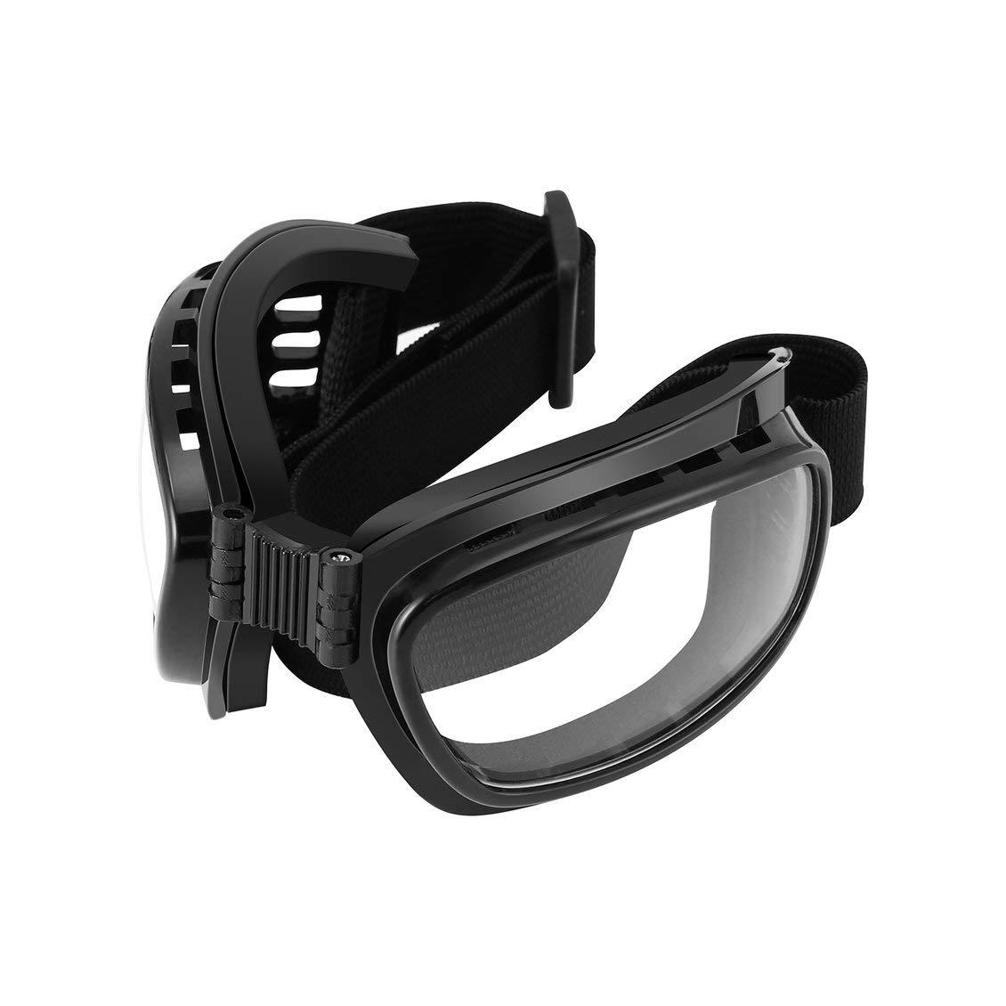 Fghdf Gafas Plegables de Motocicleta Vintage Gafas a Prueba de Viento Esqu/í Snowboard Gafas Off Road Racing Eyewear Gafas a Prueba de Polvo