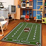 Furnish my Place 3X8 700 Corner Football Rectangle 3 X 8 Area Rug, 3'3'x8', Multi