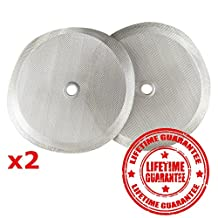2 Premium Stainless Steel Replacement Filters for Bodum French Press - 2 Filters in Package and Bonus Book Download - Perfect Cup French Press Cup Universal Reusable & Easy Wash