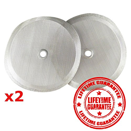 """French Press Filters by Slimm Filter: 2 Scanty 4"""" Reusable Stainless Steel Metal Filters for Bodum French Press Coffee Makers - Plus Bonus Coffee Tips and Means eBook"""