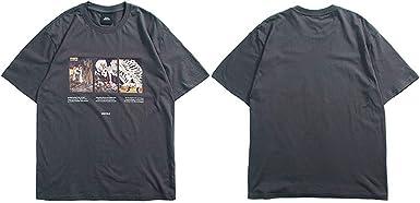 Camiseta Japonesa para Hombre, Estilo Hip Hop, de la Marca Harajuku - - Medium: Amazon.es: Ropa y accesorios