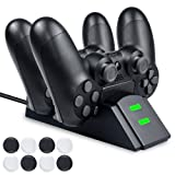 BEBONCOOL PS4 Controller Charger with 2Pcs Micro