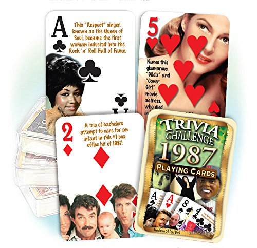 1987 Trivia Playing Cards: 31st Birthday or 31st Anniversary