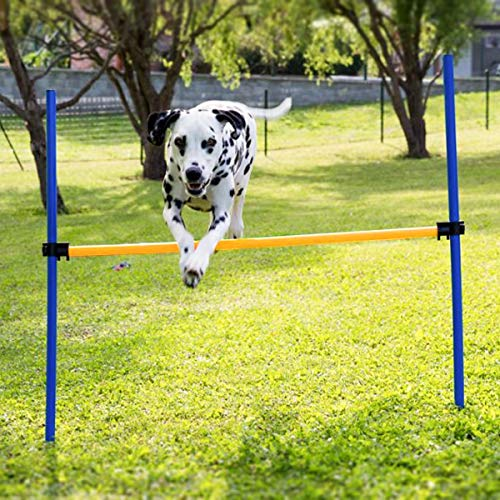 (Namsan Outdoor Dog Agility Training Equipment, Agility Training Set for Dogs, Pet Jump Hurdle bar)