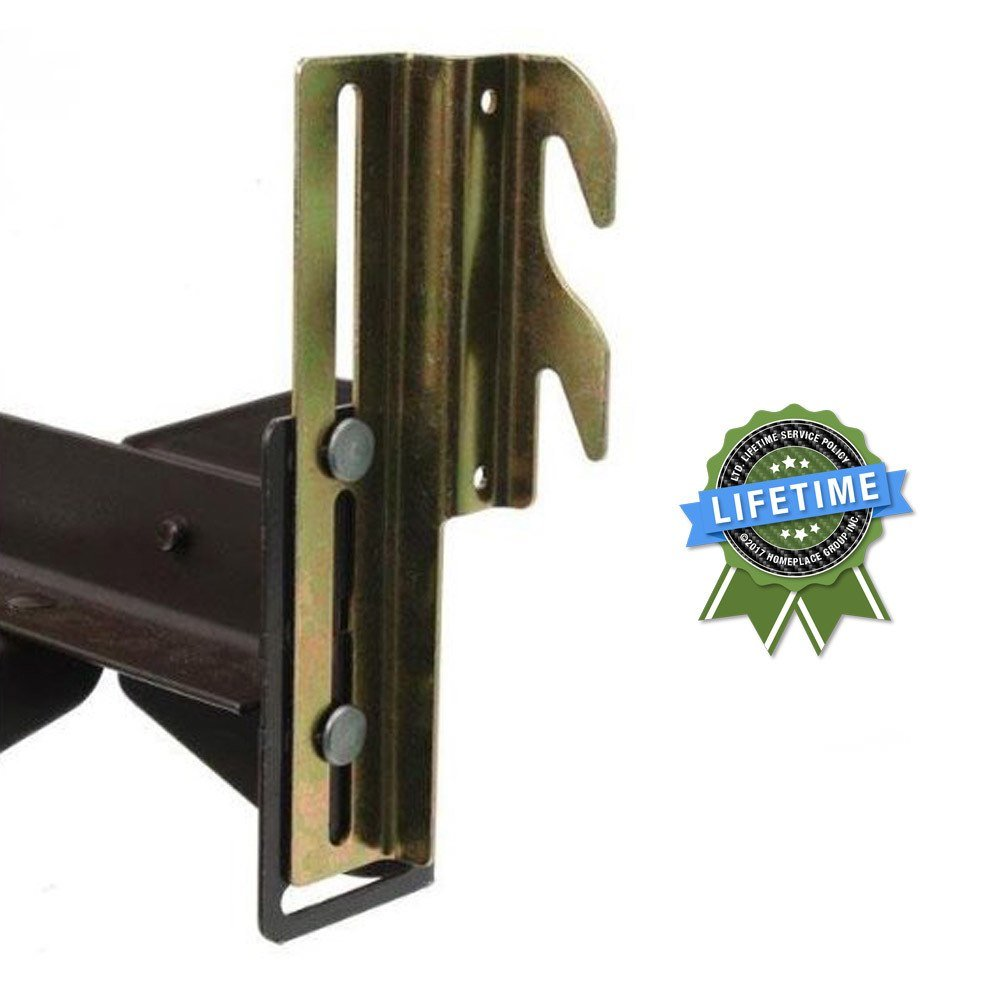 #711 Bolt-On to Hook-On Bed Frame Conversion Brackets with Hardware, Set of 2