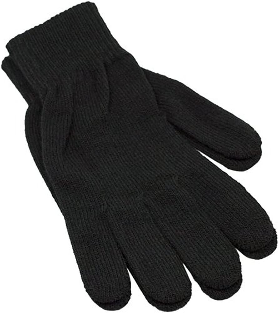 Winter Womens Knit Black Gloves