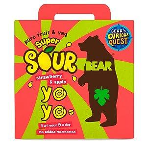 Bear Yo Yo's Super Sour Strawberry And Apple 10 Fruit Rolls