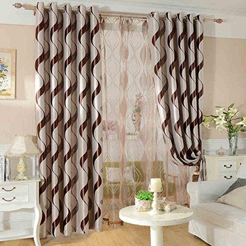 KoTing Brown Geometry Curtain for Bedroom Room Darkening Geometric Khaki Window Curtain Grommet 1 Panel 42 by 63-Inch Review