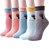 (3-5 Pairs) Womens Winter Soft Thick Knit Warm Casual Crew Socks