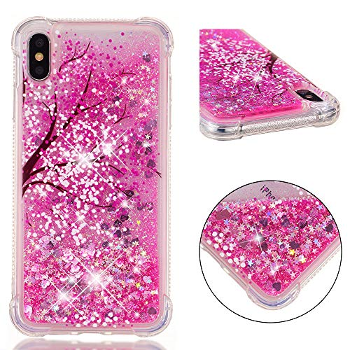 UZER iPhone Xs Max Case, Shockproof Series Cartoon Cute Bling Quicksand Liquid Moving Flowing Twinkle Glitter Shining Sparkle Diamond TPU Bumper Protective Case for iPhone Xs Max 6.5 Inch 2018