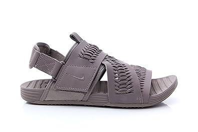 91c7f270342 NIKE Sandals Men AIR Solarsoft Zigzag WVN QS 850588 45 Grey  Amazon ...