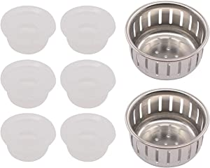 ApplianPar 6Pcs Electrical Pressure Cooker Float Valve Gaskets Sealing Ring Caps and 2Pcs Anti-Block Shield for Instant Pot