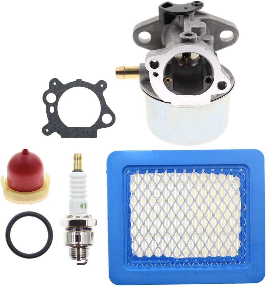 "AUTOKAY Carburetor Fits for Briggs Stratton 6-6.75 HP Murray Craftsman Snapper 22"" Push Mower Carb Air Filter Spark Plug"