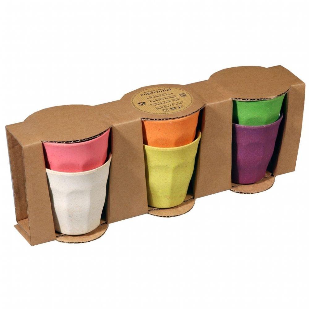 Juego de 6 Vasos de Colores Surtidos