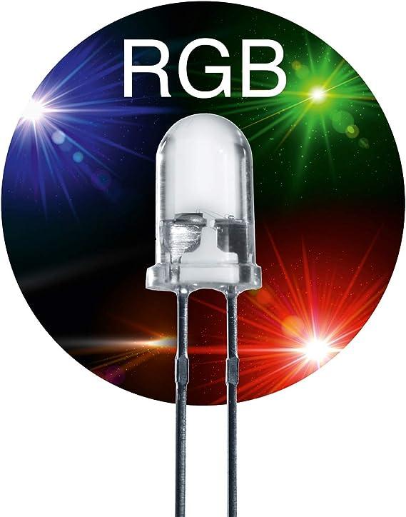 Diode RGB breites Farbspektrum 10 Stück LED 5mm Regenbogen Farbwechsel