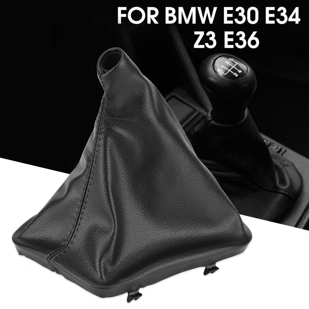 Keenso Shift Bouton de Changement de Vitesse de Voiture Gaiter Boot Auto Manuel Couvercle de Botte de Remplacement Anti-poussi/ère de pour E34 E36 E46 Z3 Kit Antipoussi/ère Couverture