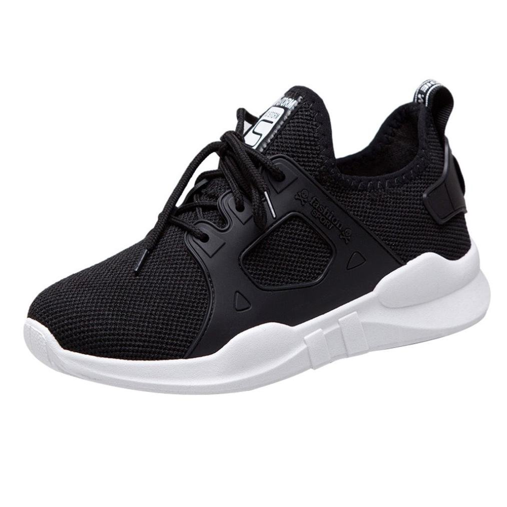 Clearance Women Running Shoes for Teens Students,Athletic Slip-on Sneakers Walking Flats Shoes 6-8 (Black, US:6.5)