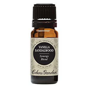 Edens Garden Vanilla Sandalwood Essential Oil Synergy Blend, 100% Pure Therapeutic Grade (Highest Quality Aromatherapy Oils- Skin Care & Stress), 10 ml