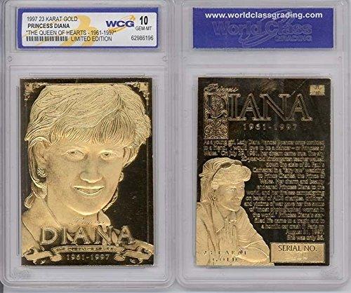 PRINCESS DIANA 1961-1997 Sculptured 23KT Gold Card Serial #'d Graded GEM MINT 10 ()