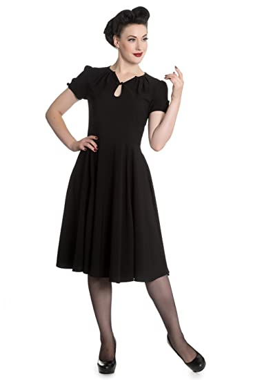 1940s Style Dresses | 40s Dress, Swing Dress Hell Bunny Riley 1940s Retro Vintage Landgirl Dress XS-4XL $32.99 AT vintagedancer.com