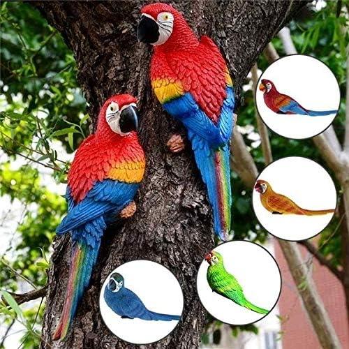 GAC Esculturas de jardín – Parrot de Resina Realista en Miniatura para Colgar en la Pared, decoración de jardín, decoración de jardín al Aire Libre: Amazon.es: Jardín