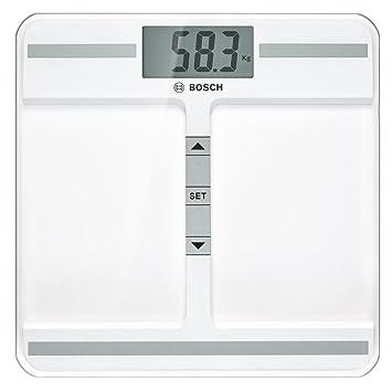 Bosch PPW4212 - Bascula de bano, 40 x 91 mm, transparente, plaza, litio, color blanco: Amazon.es: Salud y cuidado personal
