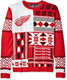 NHL Detroit Wings Patches Ugly Sweater, Red, Medium