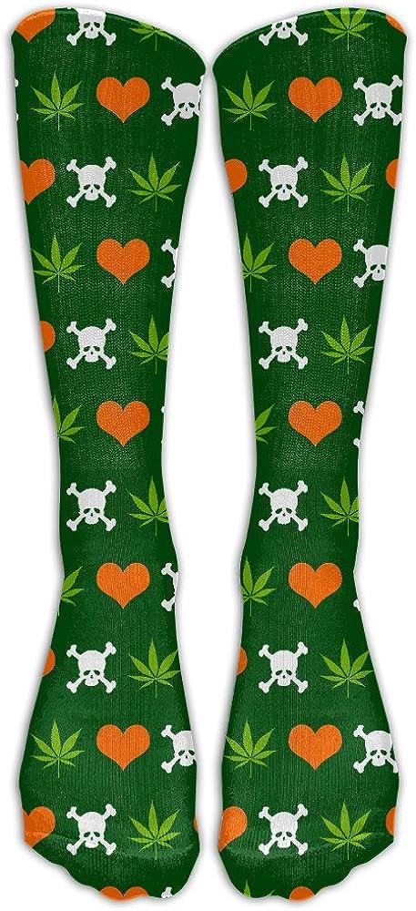 Cannabis Skull Heart WeedUnisexOver-the-CalfCompression Socks