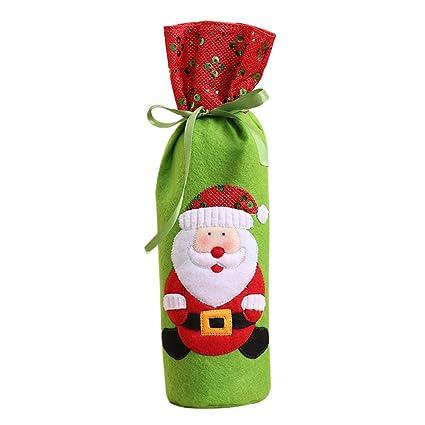 Wangjie Funda de Botella de Vino Champán para Navidad Bolsa de Regalo para Vino Decorativo para