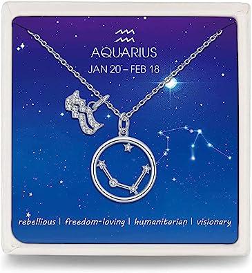 Constellation Ring Aquarius Birthday Gift Dainty Minimalist Adjustable Ring Aquarius Zodiac Chain Ring Celestial Jewelry