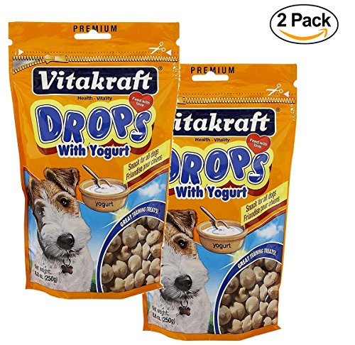 VitaKraft Dog Drops with Yogurt Treat, Dog Snacks, 2-Pack 8.8 oz