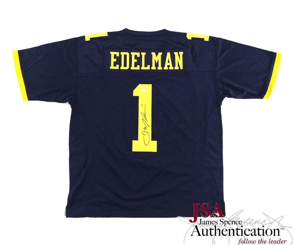 Julian Edelman Autographed/Signed Kent State University Blue Custom Jersey Radtke Sports