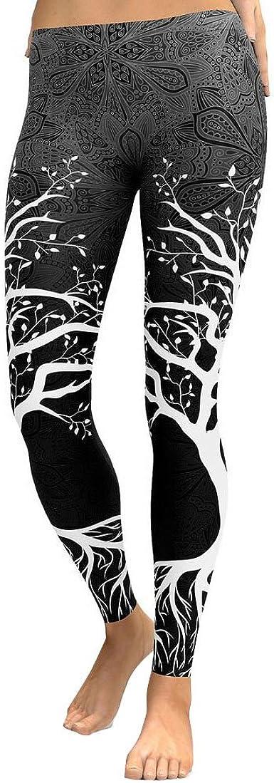 Modaworld Leggins Sportivi Donna Yoga Pants Donna Fitness Gym Pantaloni di Yoga Palestra Leggings Donne 3D Stampa Yoga Pant Skinny