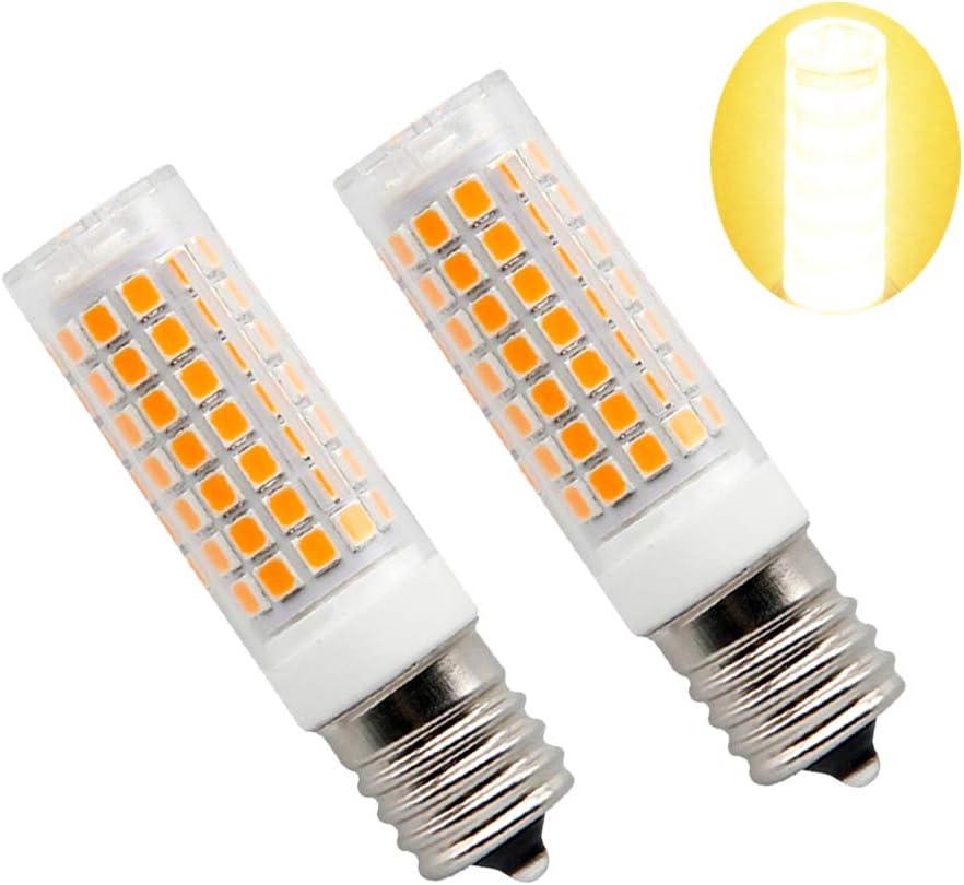 E17 LED Bulb for Microwave Oven Appliance 5 Watt 6000k 72X2835SMD AC110-130V Pack of 2 Daylight White
