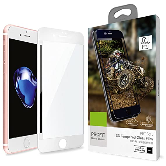 Amazon.com: iPhone 7 Plus 3D Full Coverage Tempered Glass, [PET ...