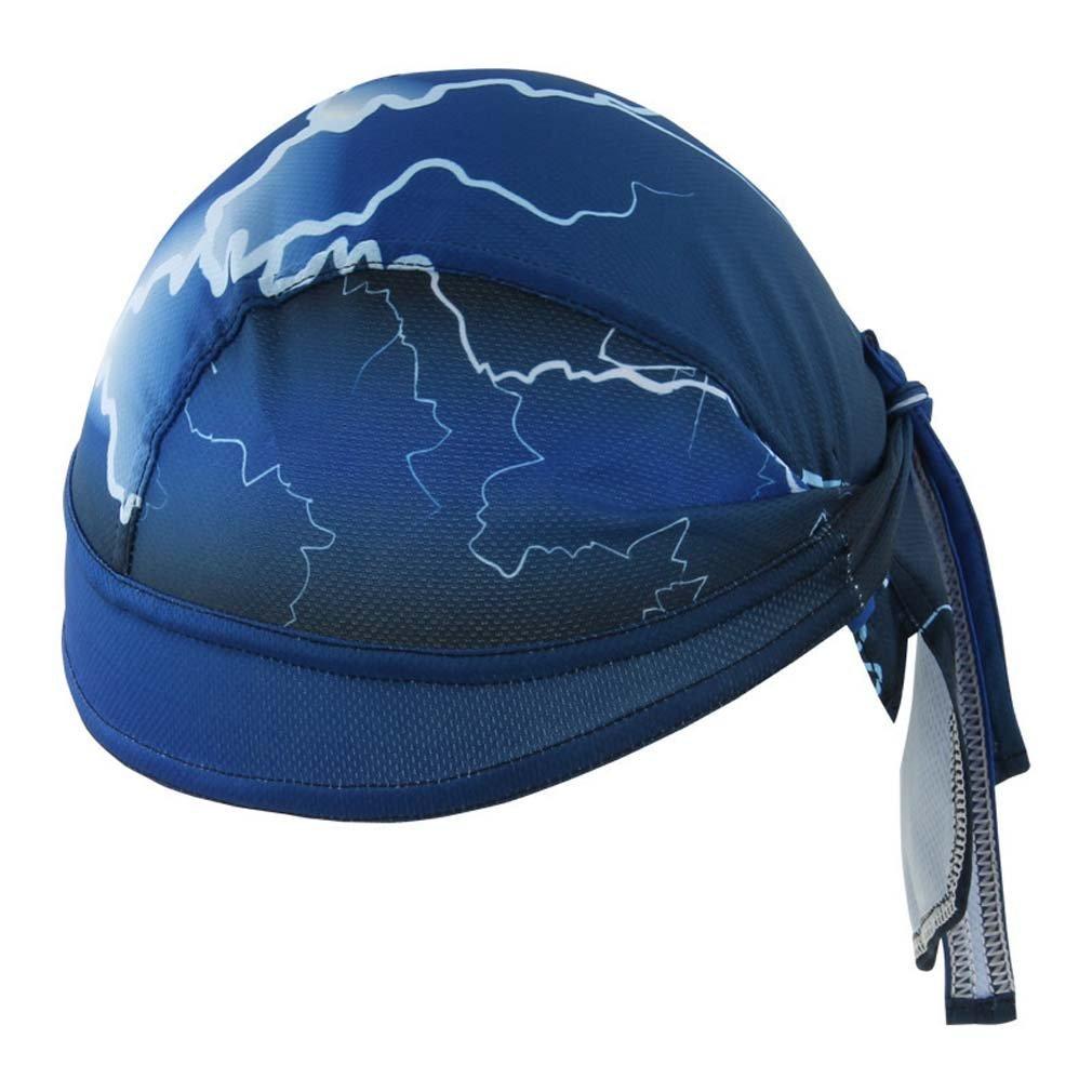 GERINLY Head Wraps - Lightning Pattern Biker Bandanas, Blue Doo RAG Sweatband ff8-a6529d9
