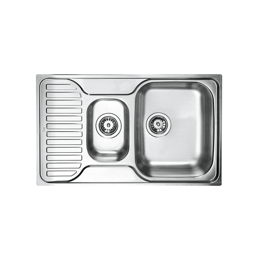 Teka de acero inoxidable fregadero de cocina fregadero monomando fregadero de 1/2 platillos, de princesa de 1/2C 30000172