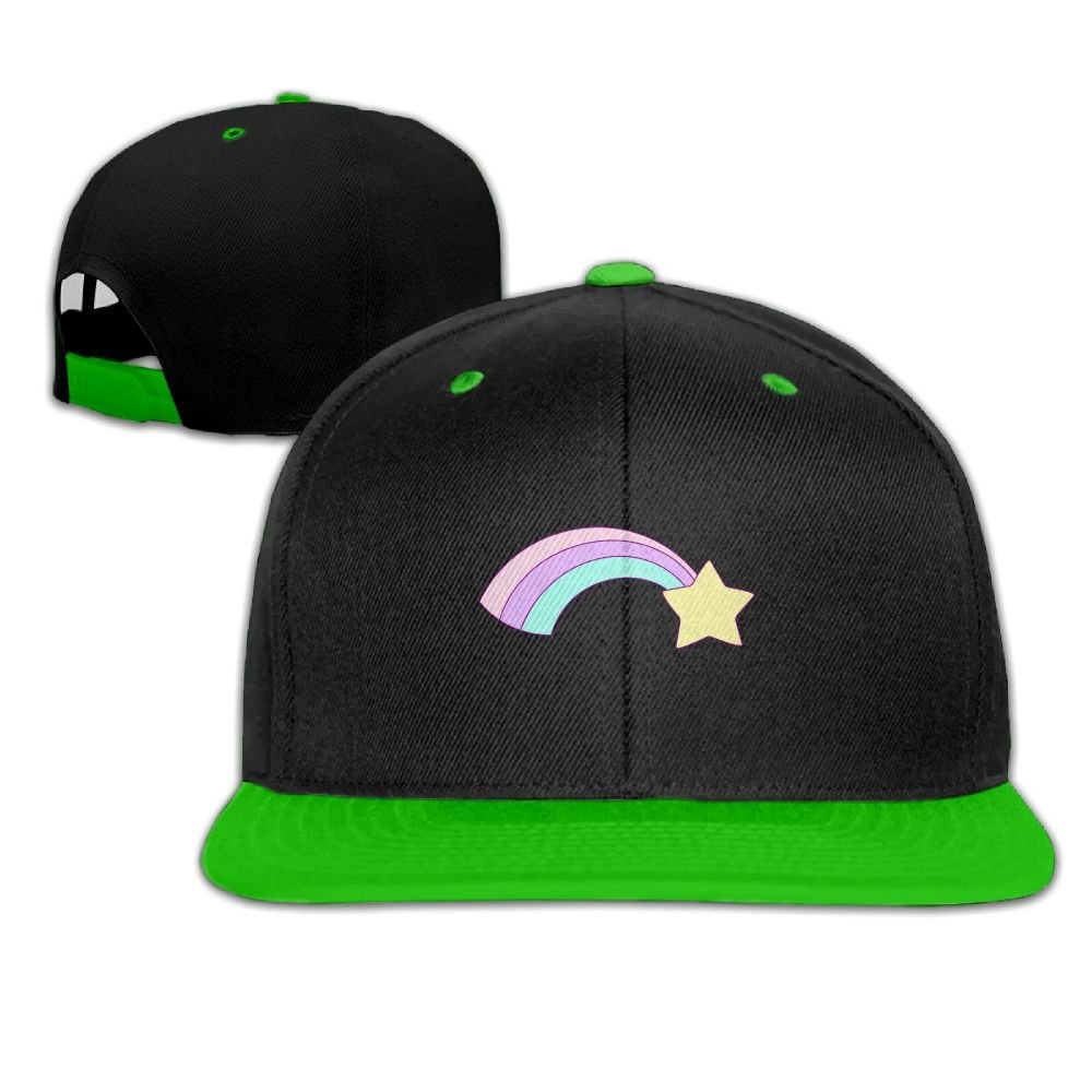 Humaoe Rainbow Star Fashion Peaked Baseball Caps//Hats Hip Hop Cap Hat Adjustable Snapback Hats Caps for Unisex