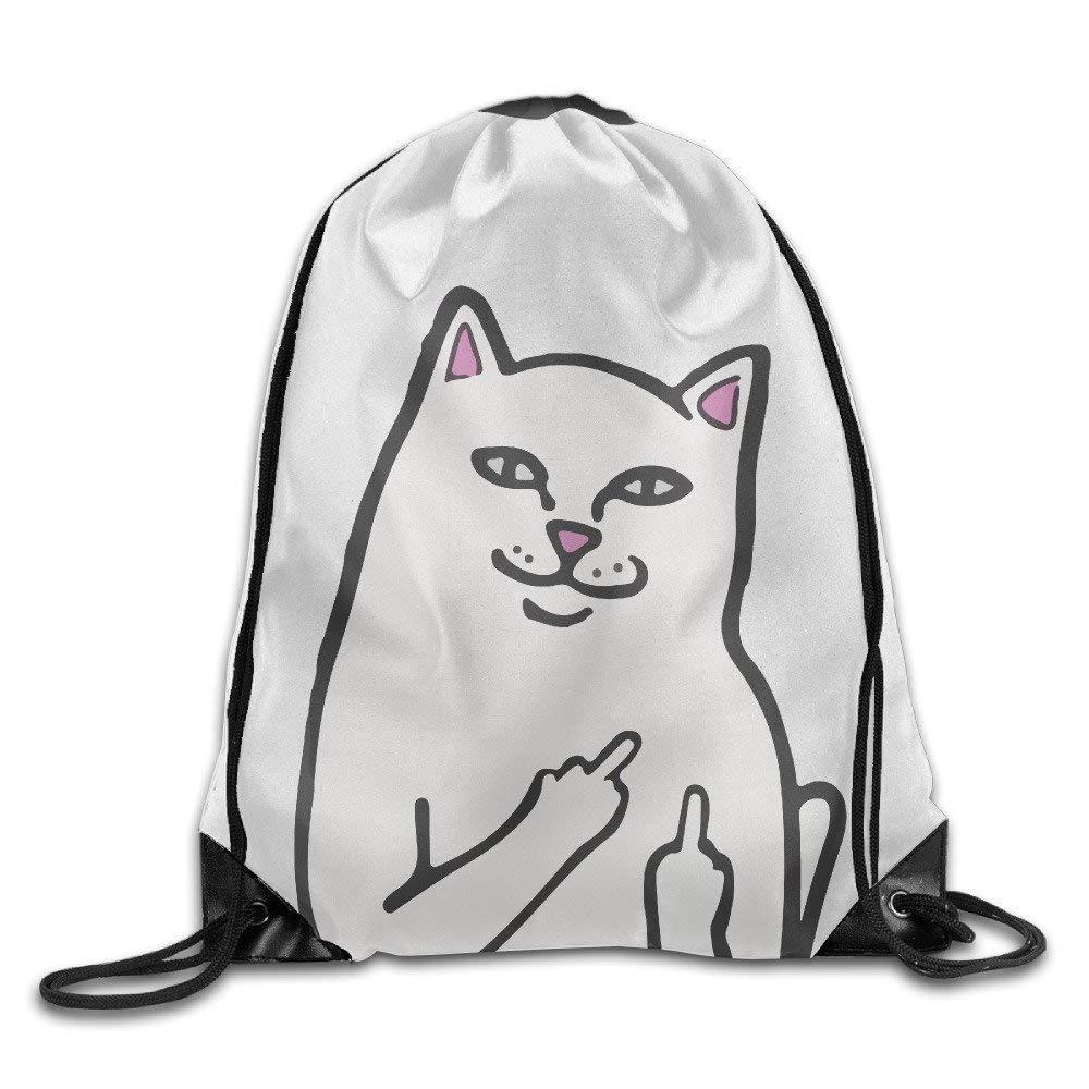 NGDUTZ Funny Humor RIPNDIP Cat Sport Backpack Drawstring Print Bag