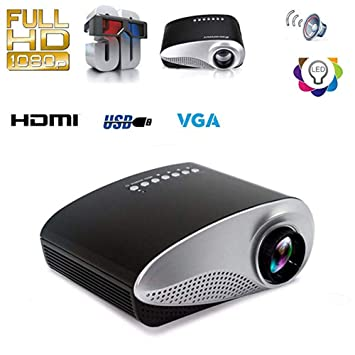 Konnison-1 Proyector portátil Mini HD Proyector de Cine en casa ...