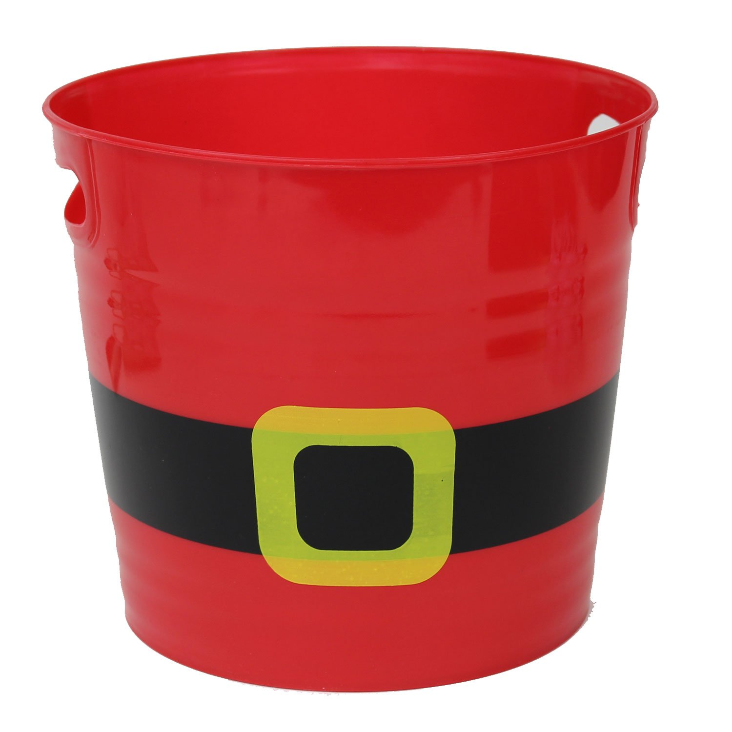 Red Santa Suit Plastic Ice Bucket with Belt and Handles, Set of 2 LNK XM21449