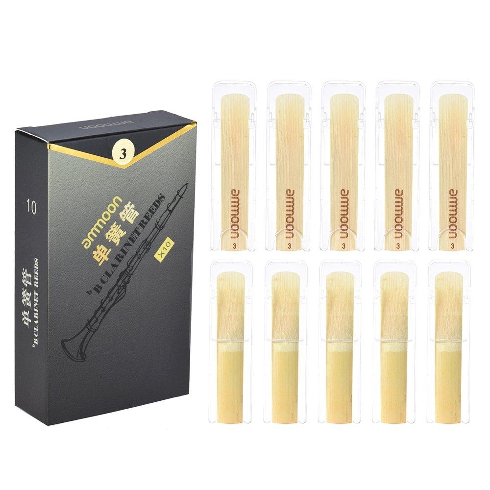 ammoon Cañas de Clarinete Bb de Alto Grado Palos de Bambú para Clarinete (Fuerza 3.0): Amazon.es: Instrumentos musicales