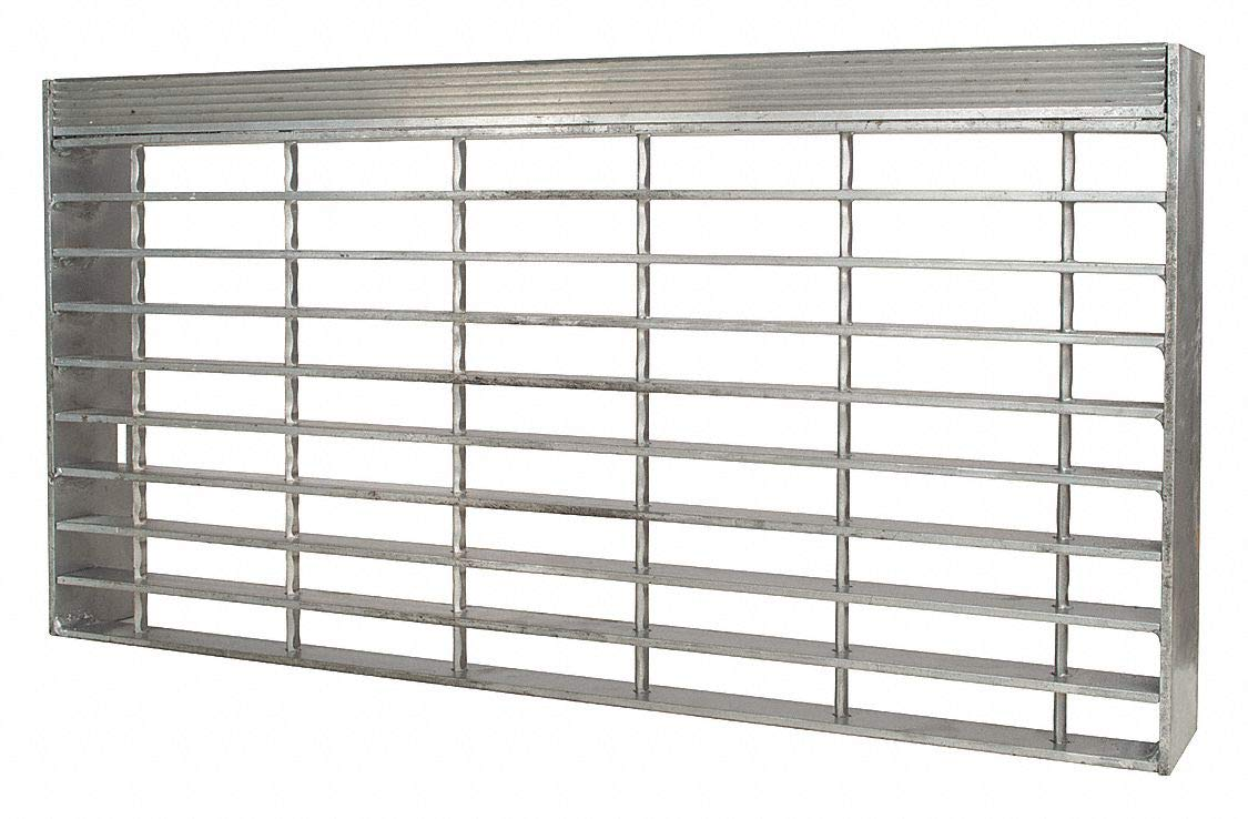 Stair Tread, Serrated Surface, 30'' Tread Width, 8.563'' Tread Depth by DIRECT METALS