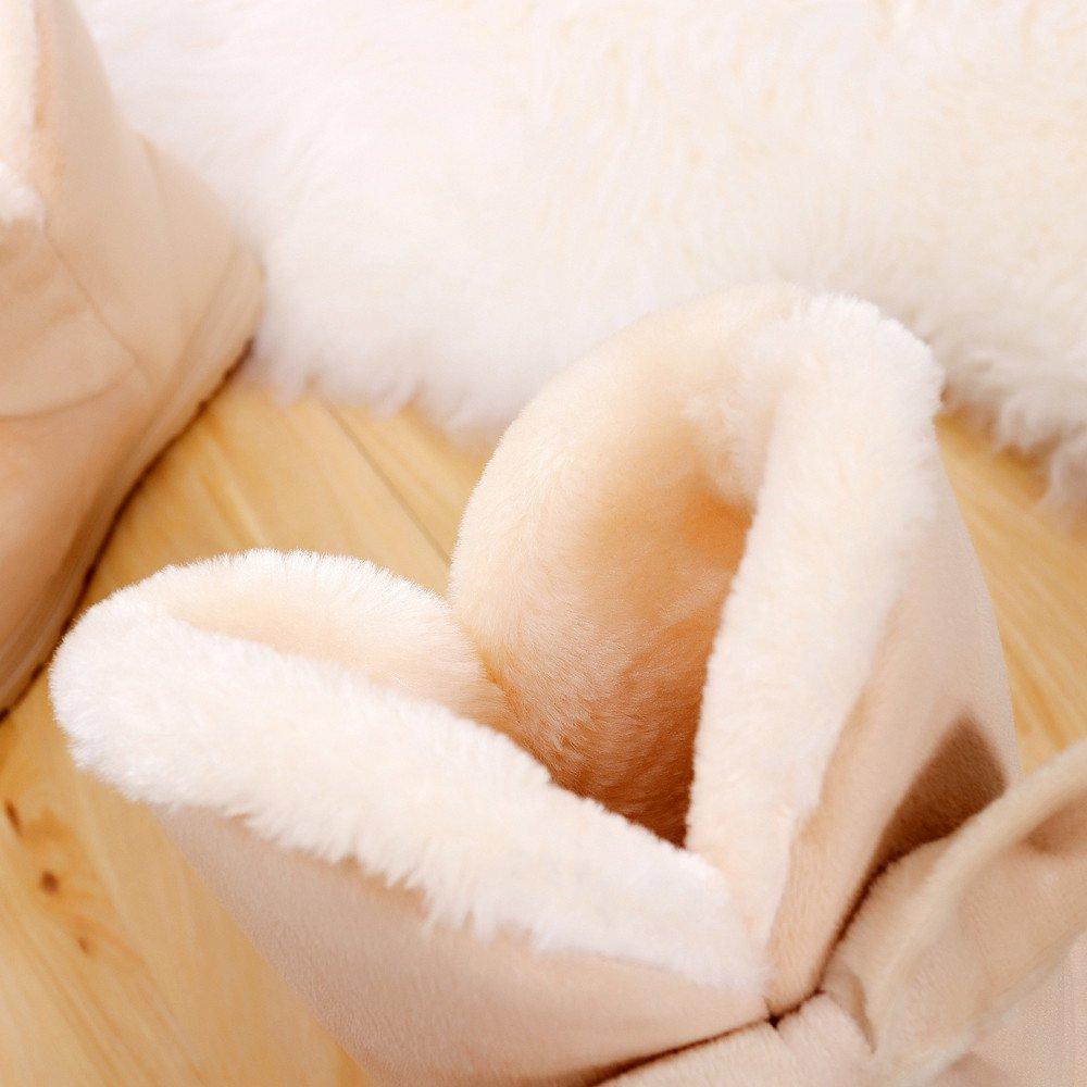 GiveKoiu Stivali Neve Donna Scarpe Donna Scarpe Calde con Pelliccia Fodera Inverno Piatto Caviglia Stivaletti Antiscivolo Caviglia Scarponi