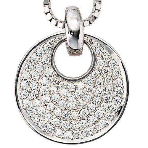 Pendentif avec brillants 78diamants or blanc 585or pendentif Femme Exklusiv
