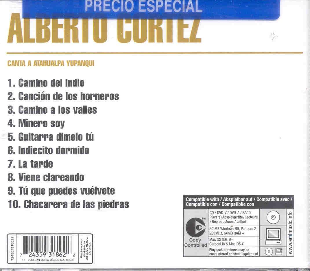 Alberto Cortez Canta A Atahualpa Yupanqui : Alberto Cortez: Amazon ...