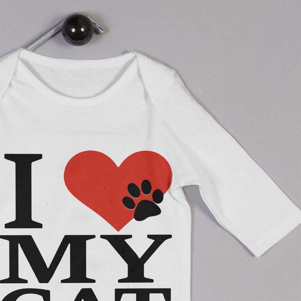 I Love My Cat Infant Baby Long Sleeve Jumpsuits Creeper Jumpsuits