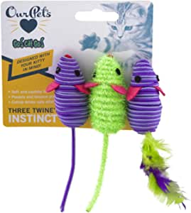 OurPets 1550012645 Three Twined Mice