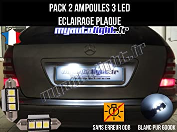 Pack Bombillas LED iluminación placa para Mercedes Clase E W210 W211: Amazon.es: Coche y moto